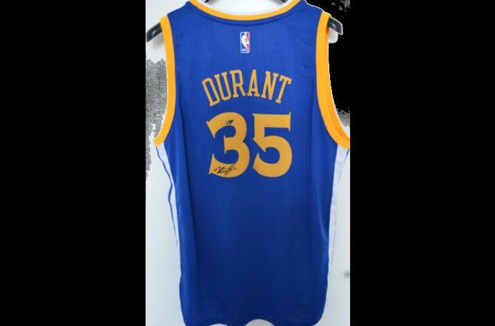 sports shoes ff711 61d79 Kevin Durant - Golden State Warriors No. 35 Jersey by Adidas ...