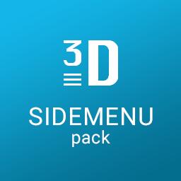 3D Sidemenu pack - Ionic 2.x/3.x
