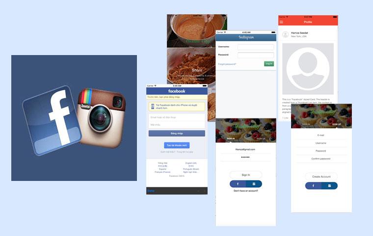 App-login-fb-&-instagram - Ionic Marketplace Marketplace Login