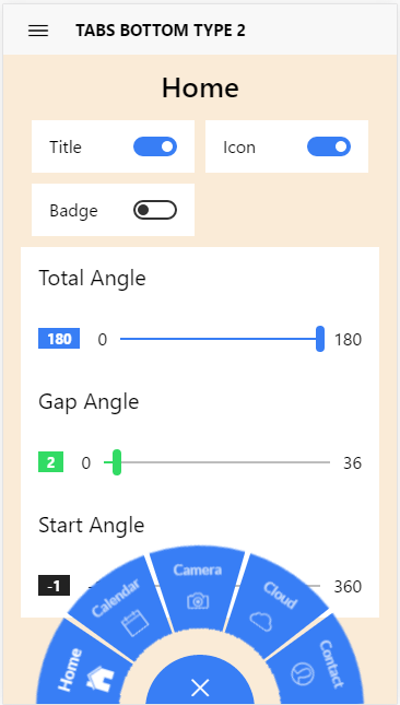 Circular-tabs - Ionic Marketplace