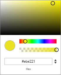 Custom color picker Ionic 4