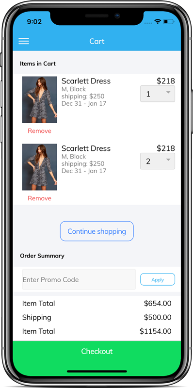 E-commerce-app-starter-ionic-4- - Ionic Marketplace