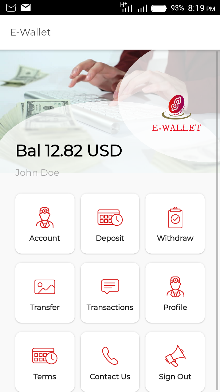 E-wallet - Ionic Marketplace