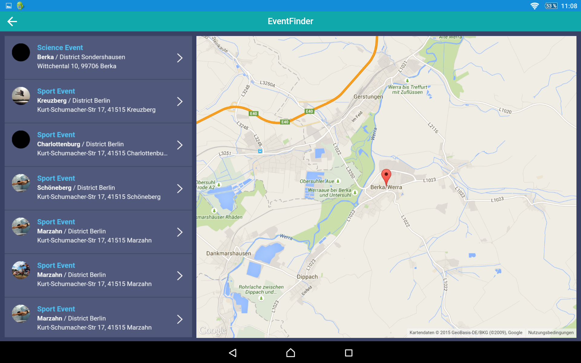 Event app and maps tablet ionic marketplace gumiabroncs Gallery