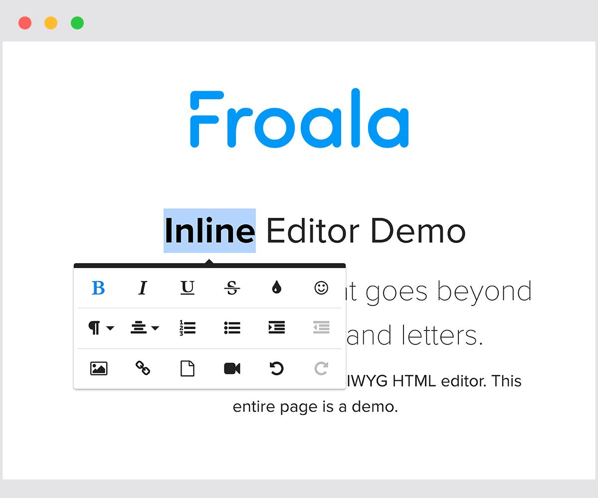 Froala wysiwyg html editor   Ionic Marketplace