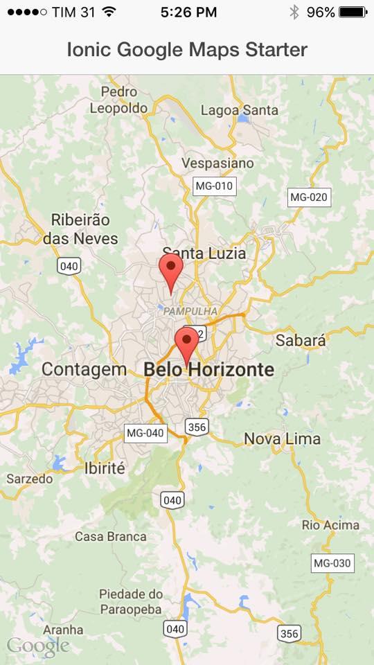 google maps ionic marketplace