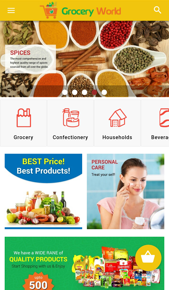 grocery world ionic marketplace