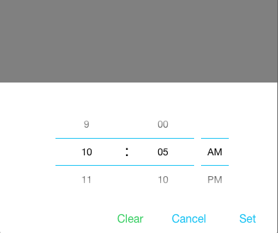 Ion Time Picker