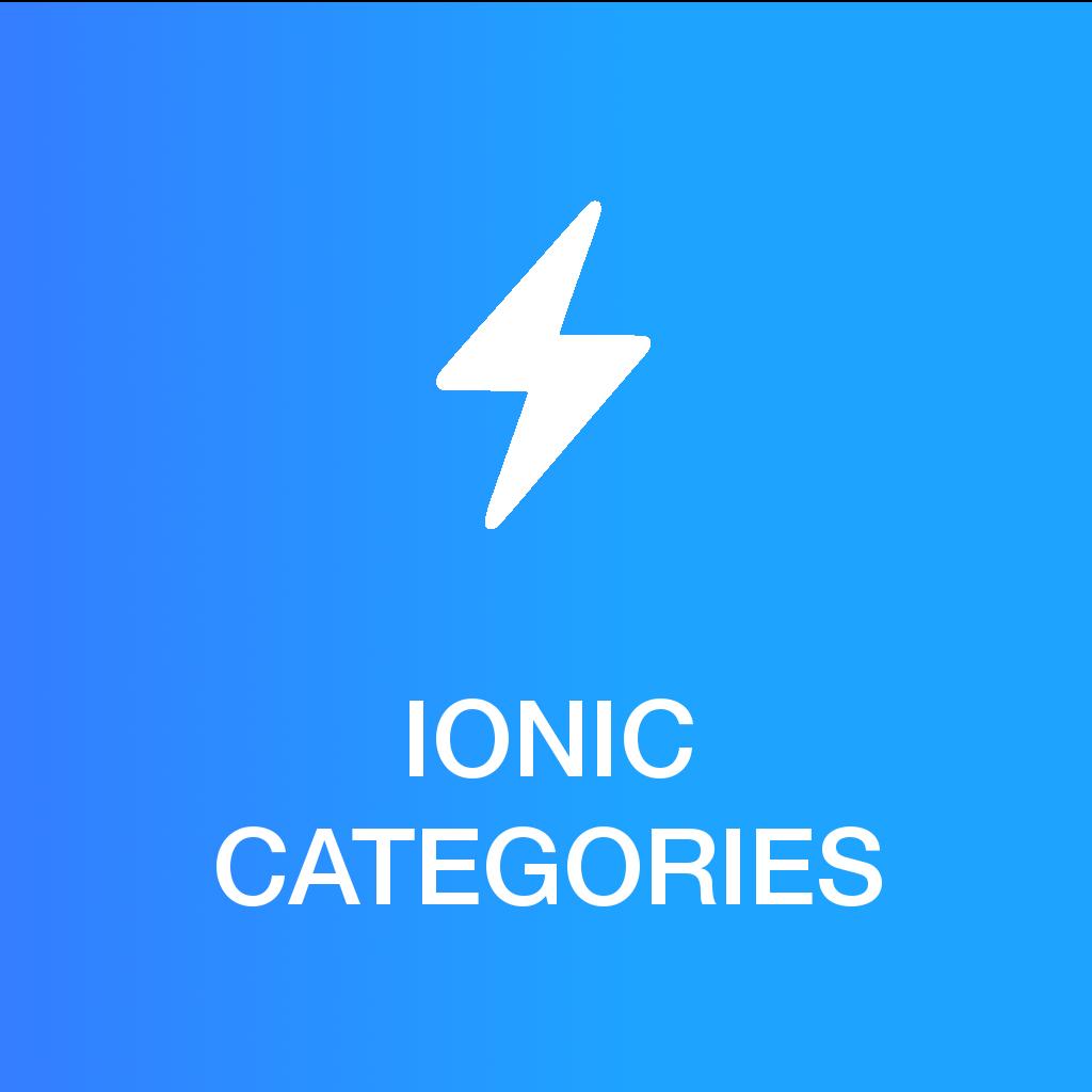 Ionic 2.x/3.x - Ionic Categories