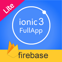 ionic 3 fullapp with firebase backend Lite Edition