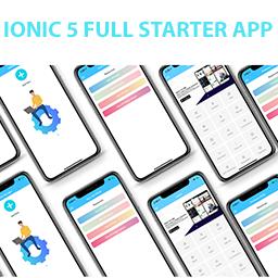 ionic 5 full starter app