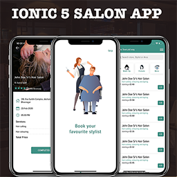 Ionic 5 Salon appointment booking app template