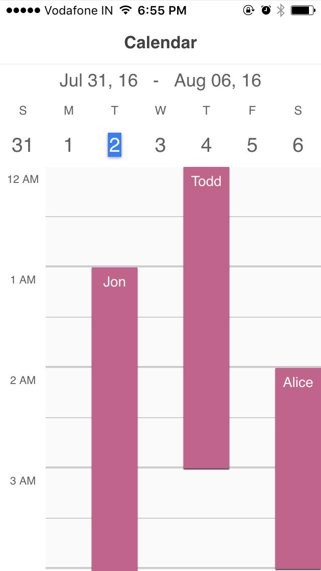 Calendar Week.Ionic Calendar Week Ionic Marketplace