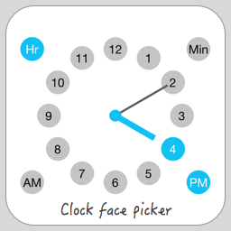 Clock face time picker