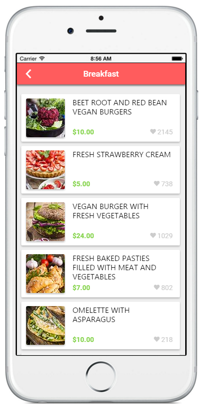 Ionic-material-food-delivery - Ionic Marketplace