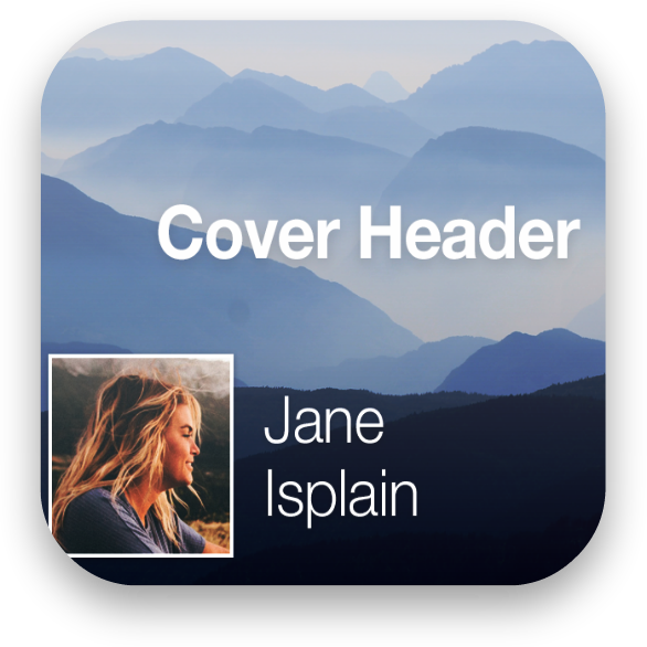 Ionic Cover Header