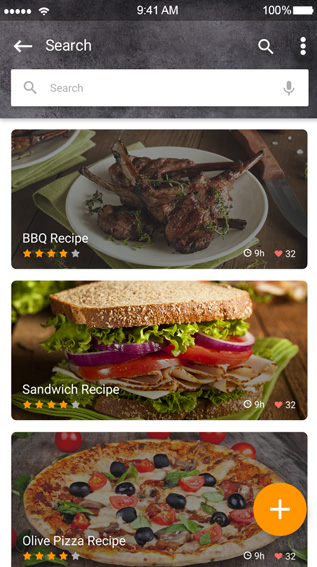 Ionic theme for food recipes app ionic marketplace forumfinder Images