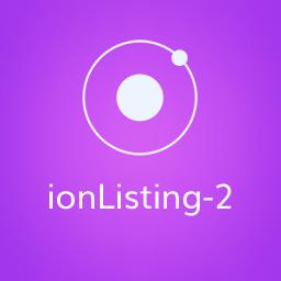 IonListing2 - Ionic Listing Component