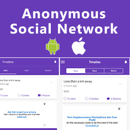 ionSecret - Anonymous Social Network with PHP Admin Panel  Full Application
