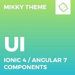 Mikky  Ionic 4 / Angular 7 UI Theme / Template App  Multipurpose Starter App