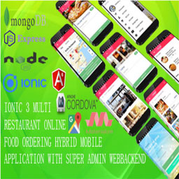 Multi Restaurant Mobile App /IONIC 3  MONGODB/ with MEAN Super Admin Webbackend /ANGULAR6, EXPRESS/
