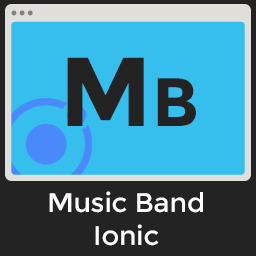 Music Band Ionic - Full Application