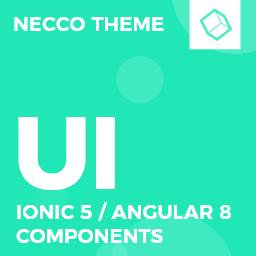Necco  Ionic 5 / Angular 8 UI Theme / Template App  Multipurpose Starter App
