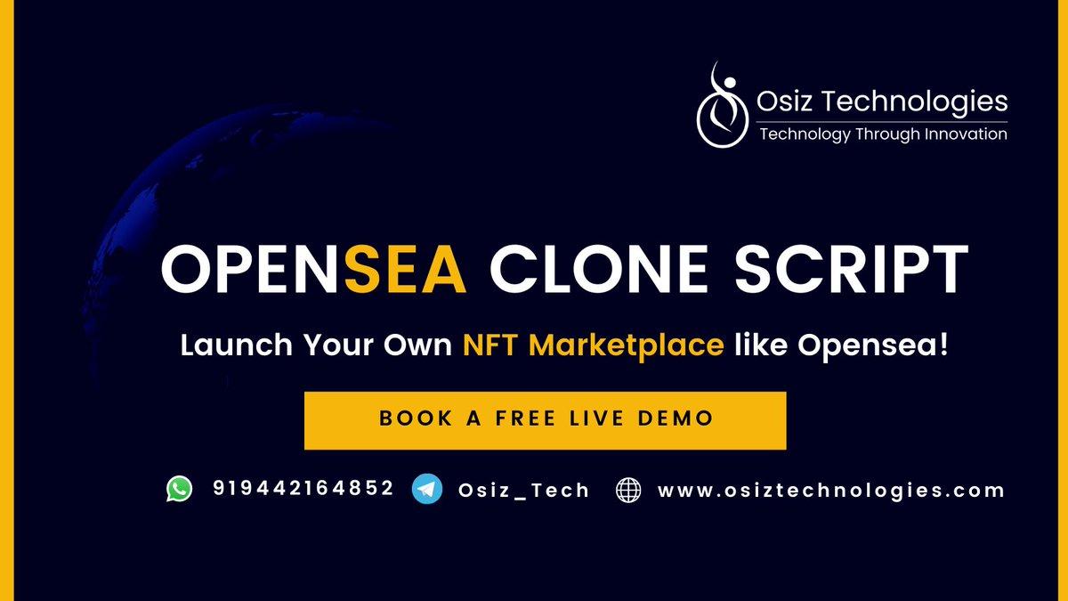 NFT Marketplace Clone like Opensea, Rarible!