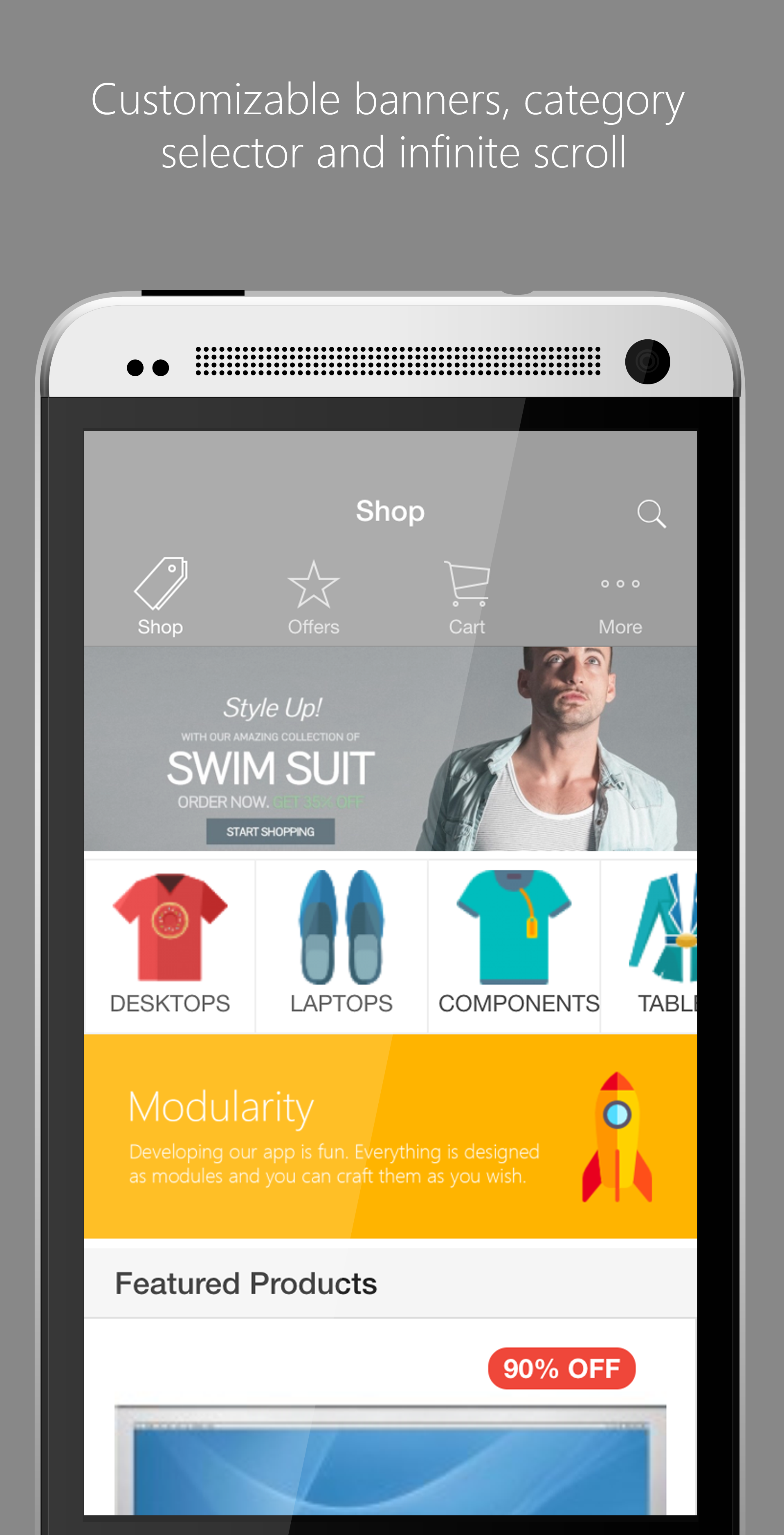 Opencart mobile shopping cart lite app with api by i2cs for Shop on line mobili