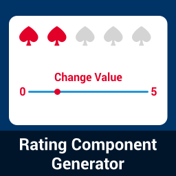 Rating Component Generator - Angular, React and Vue