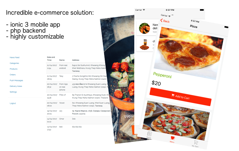 Restaurant-delivery-app-starter - Ionic Marketplace
