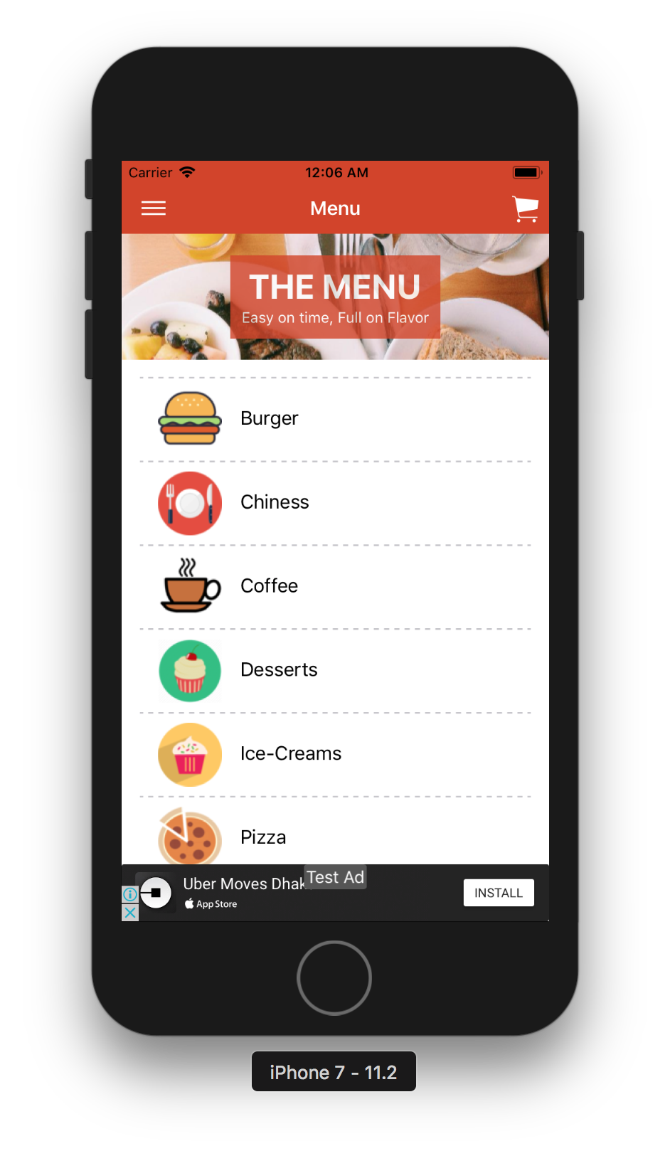 Restaurant Food Delivery Template Supports Multiple Language