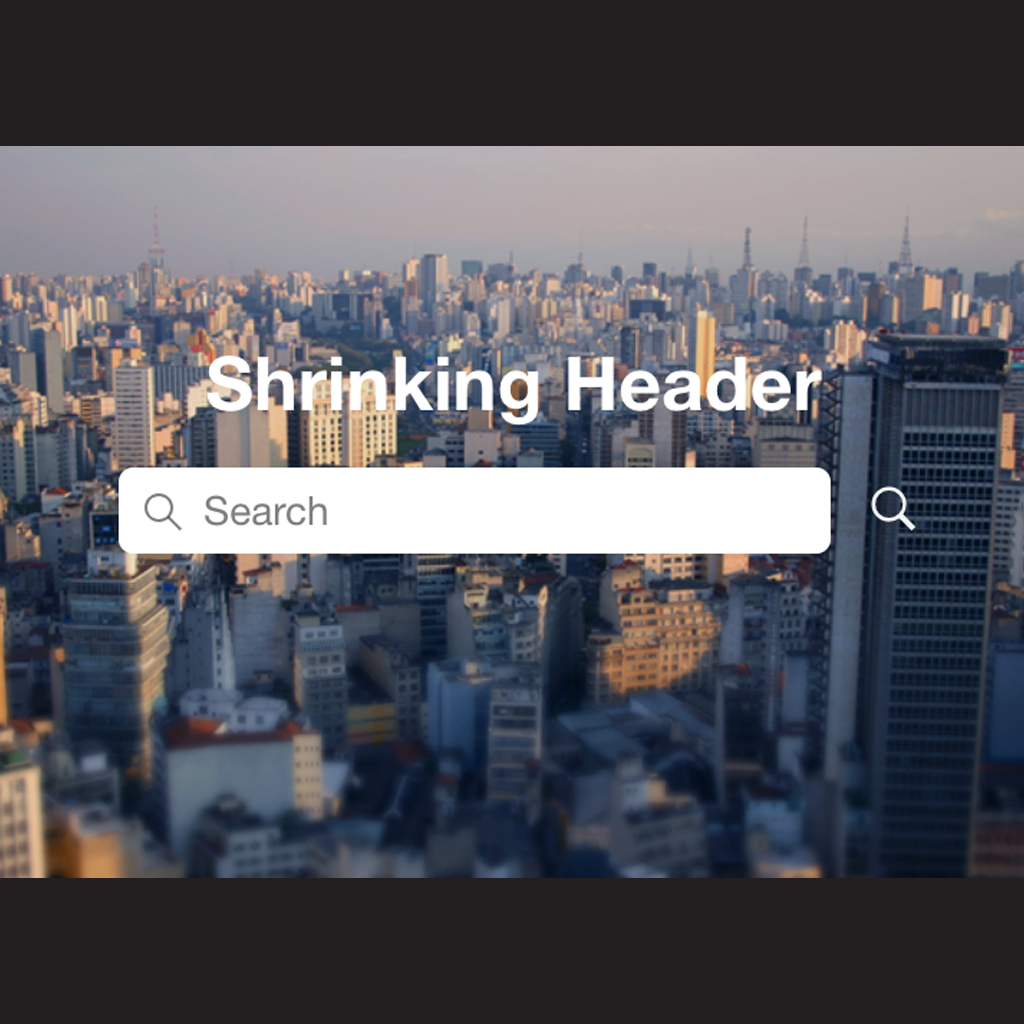 Shrinking Search Header
