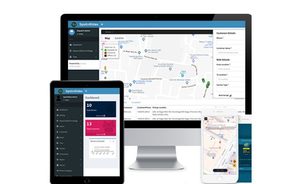 Spotnrides-taxi-dispatch-software - Ionic Marketplace