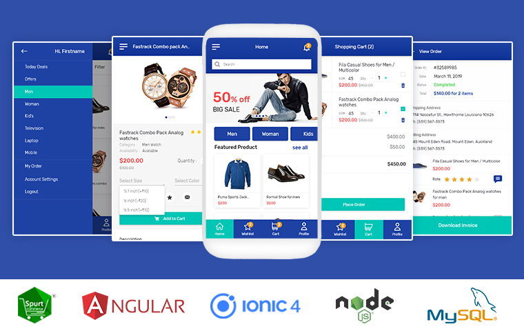 Spurtcommerce-ecommerce-shopping-mobile - Ionic Marketplace