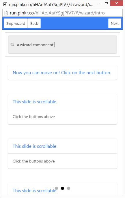 Wizard - Ionic Marketplace