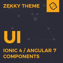 Zekky  Ionic 4 / Angular 7 UI Theme / Template App  Multipurpose Starter App