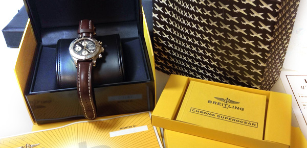 Breitling Superocean Watch in Box - Mint Condition