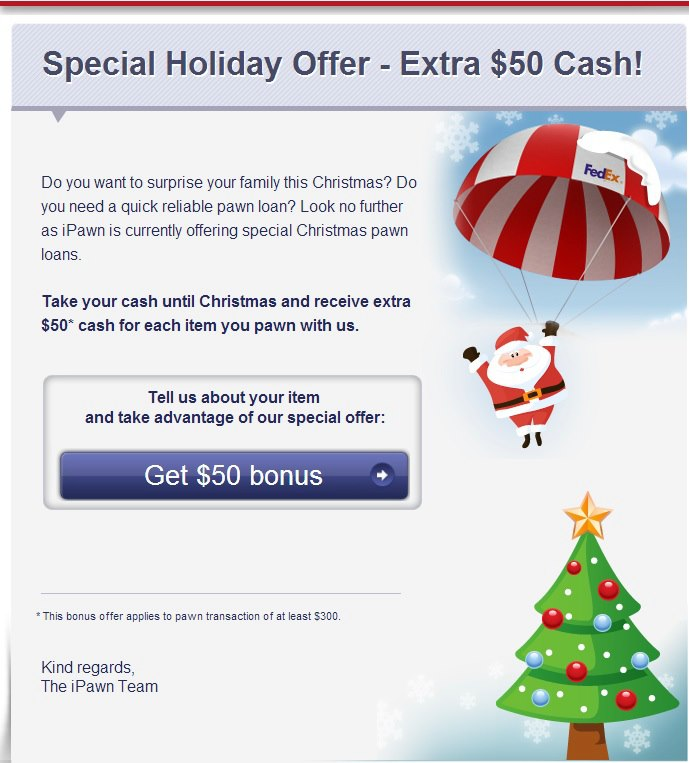 iPawn Special Holiday Offer