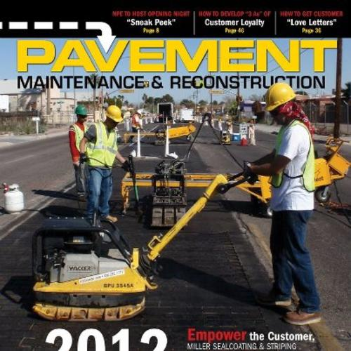 StreetPrint Accredited Installer makes front page on Pavement Maintenance