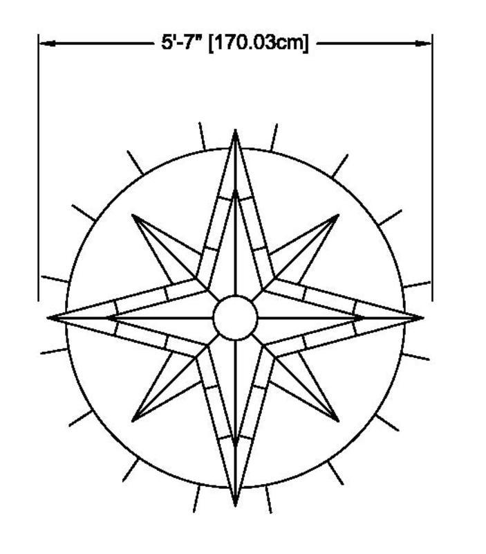 Compass for tabletop Compass Rose Template Printable - mandegar.info