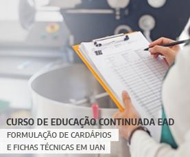 Formulação de Cardápios e Fichas Técnicas em UAN