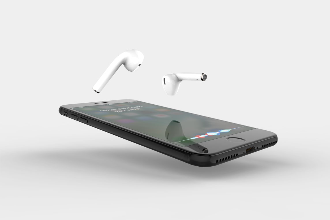 iPhone 7 with Earbuds