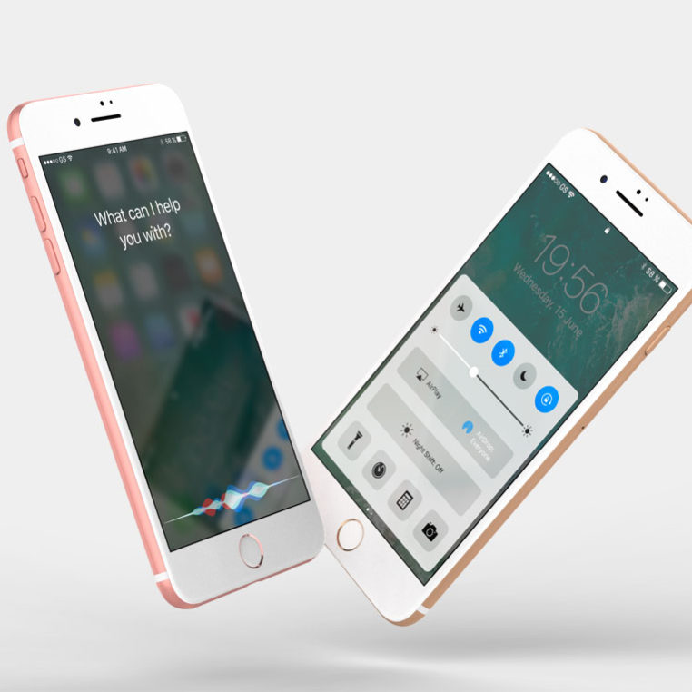 Floating iPhone Mockups