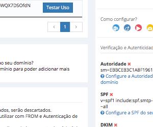 Domínios para SMTP