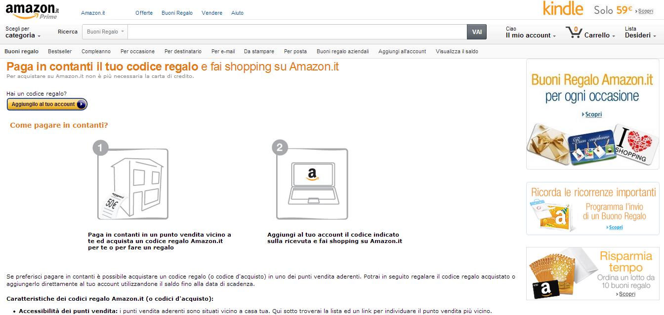 ffe48577fc8f02 Amazon.it: acquisti senza carta di credito grazie all'accordo di ...