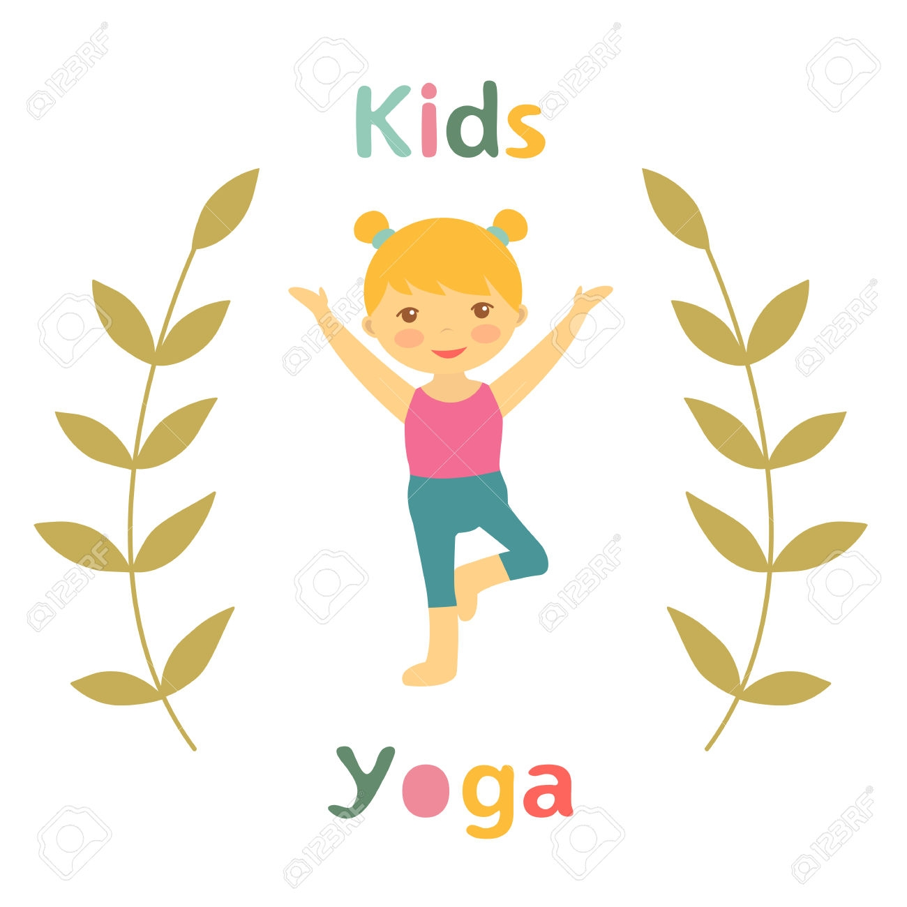 1740442934 39569112 Cute Yoga Kids Card With Little