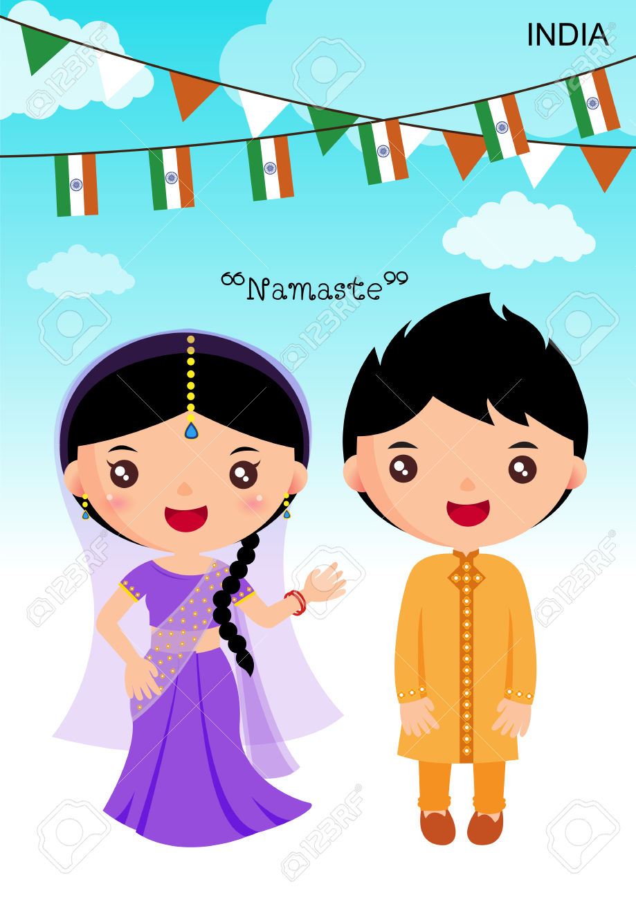 a7957eb5b 44163244-india-traditional-costume-asian-character-boy-girl-stock-vector Sc  1 St The International Preschools
