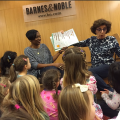 Monique and Bernadette read to the children at the IPS Book Fair at Barnes and Noble.