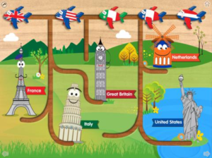 "Ms. Nikki will be introducing an application in her iPad class for the older children called ""World Flags Wood Puzzle Maze"". This app (best for four and five-year-olds) is a great way for children to expand their knowledge of the countries of the world in a developmentally appropriate way."